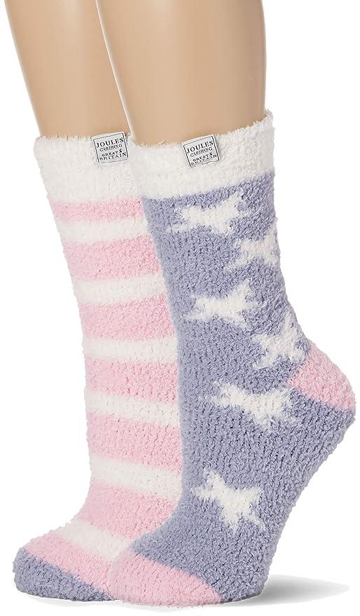100 DEN Joules Womens Fabulously Fluffy Slipper Socks