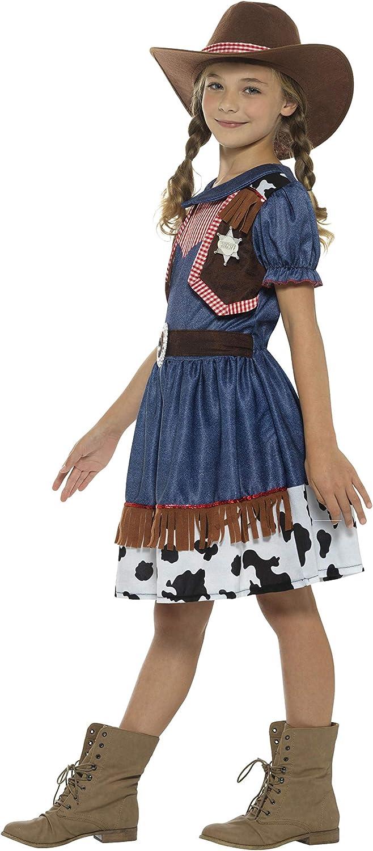 Smiffys Smiffys-21482S Disfraz de Vaquera Tejana, con Vestido ...