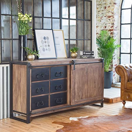 Made In Meubles Aparador Industrial Puerta corredera | BPC, Natural, 49: Amazon.es: Hogar