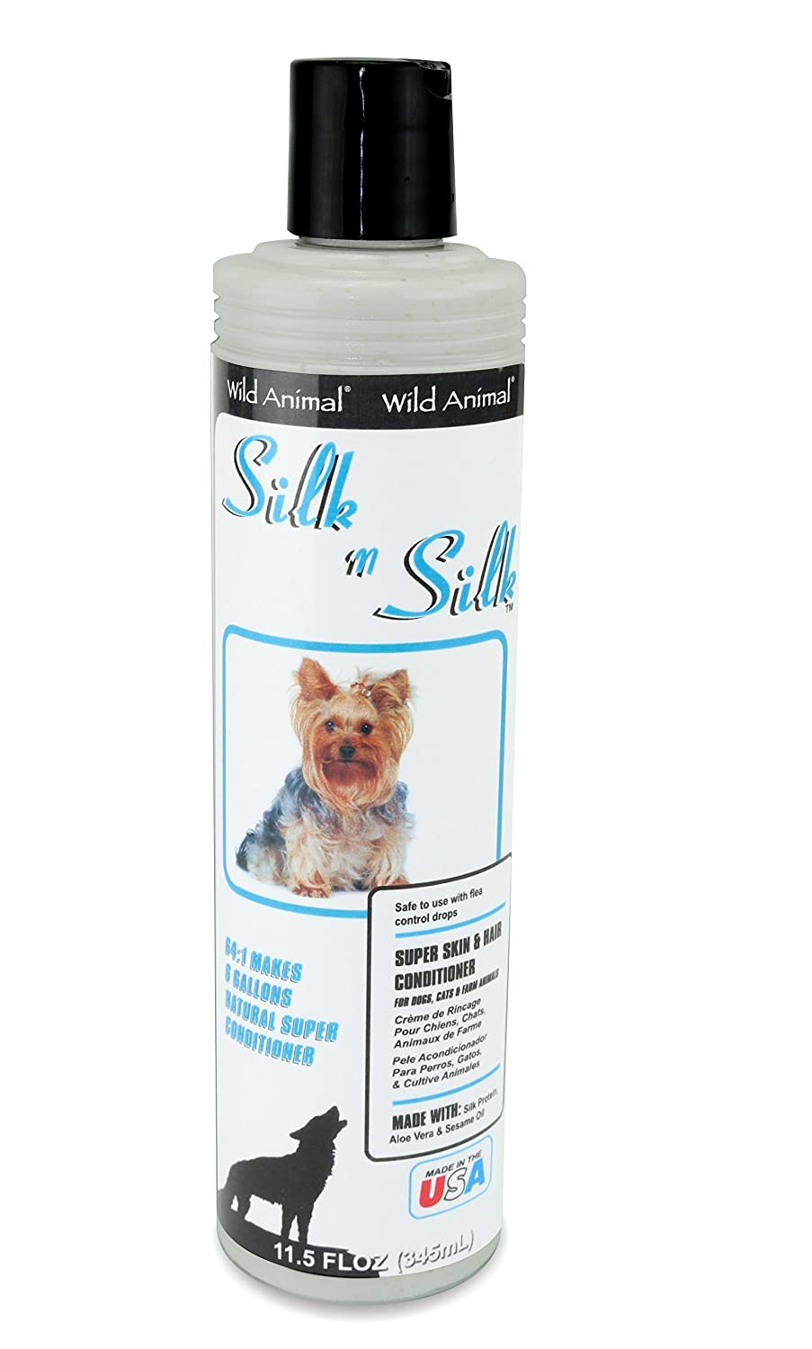 Amazon.com: Wild Animal Silk N Silk 64:1 Conditioner, 11.7 fl. oz.: Pet Supplies