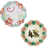 Talking Tables Pastries & Pearls Vintage Style Paper Plates for a Tea Party or Birthday, Multicolor (12 Pack)