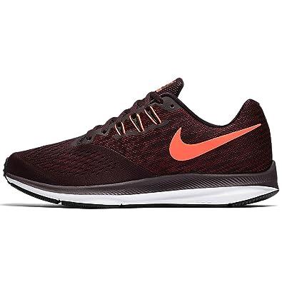 Nike Mens Air Zoom Winflo 4 Running Shoe, Port Wine/Total Crimson-Team
