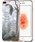 Iphone 7 Plus Case Bible Verse Clear- Topgraph [Soft Tpu Slim Fit Protective] Apple Iphone 7 Plus Protective Cover Christian Rubber