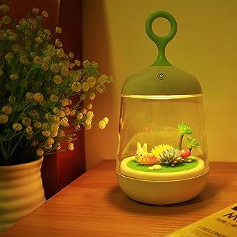 Luces decorativas Luz de la noche 1W Interruptor táctil recargable ...