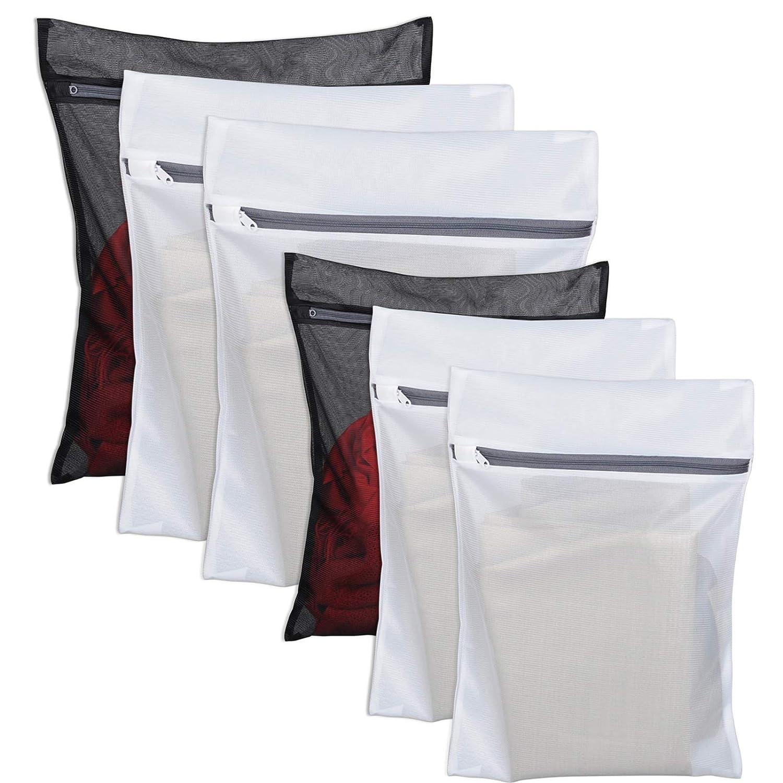 6 Pack Laundry Bag Delicates Mesh Wash Bag For Hosiery, Underwear, Bra ,Garment Lingerie Effective Protection Travel Storage Organize Zipped Drying Machine Washing Bag ( 3 Large, 3 Medium) Geberiela