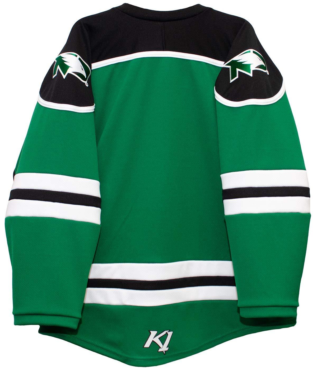 the best attitude fcede 7a3bc K1 Sportswear North Dakota Fighting Hawks Men's Hockey Jersey