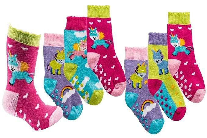 C&C KIDS - Calcetines - para bebé niño azul unicornio
