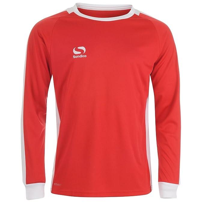 327cf56cf70 Sondico Mens Colorado Football Shirt Long Sleeve Round Neck Red/White XXL:  Amazon.co.uk: Clothing