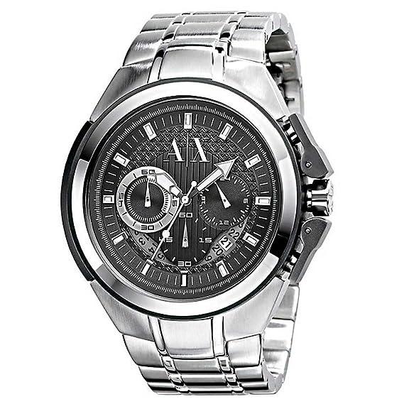 Armani Exchange AX1039 – Reloj de pulsera de hombre, correa de acero inoxidable color plata