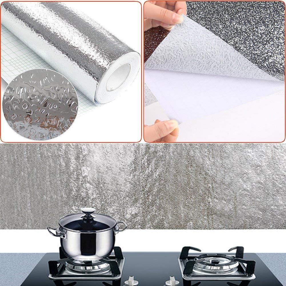 Woopower plateado 40 x 200 cm Adhesivo en aluminio para  cocina