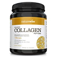 NatureWise Enhanced Collagen Peptides – Hydrolyzed Type I & III to Support Healthy...
