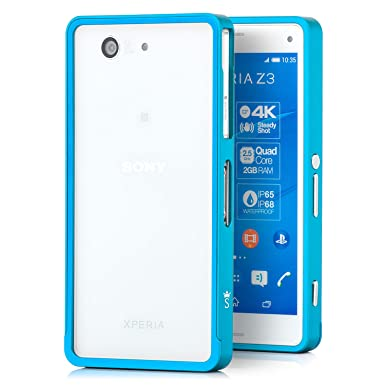 promo code 481a6 23375 Metal Aluminium Frame Bumper for Sony Xperia Z3 Ultra-Slim Lightweight  Protective Case | Color: Light Blue