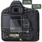 Screen Protector for Canon Eos 1DX for 1D X Mark II 2 Mk II DSLR Camera,debous Tempered Glass 0.3mm 9H Hard Protective Film(2 Pack)