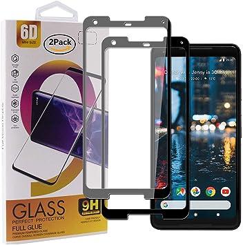 Guran [2 Paquete Protector de Pantalla para Google Pixel 2 XL Smartphone Cobertura Completa Protección 9H Dureza Alta Definicion Vidrio Templado Película: Amazon.es: Electrónica
