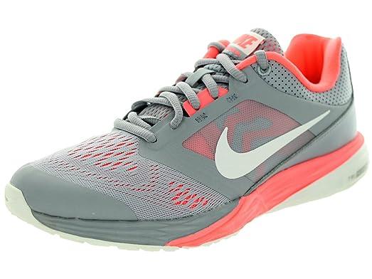 Nike Women's Tri Fusion Run Wolf Grey/Summit White/Lv Glow Running Shoe 6