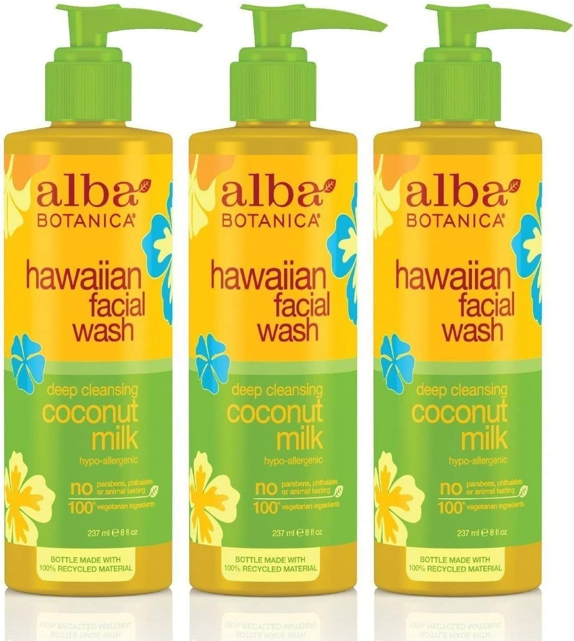 Alba Botanica Hawaiian Coconut Milk Face Wash, 8 Ounce - 3 per case.