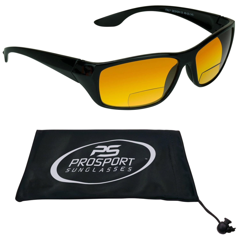 PRO HD Amber Anti Reflective Bifocal Sun Reader Sunglasses for Men and Women.