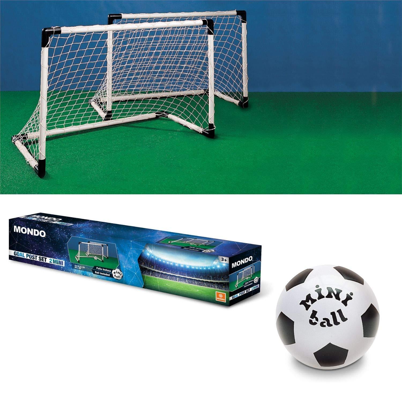 Mondo - Set de 2 Mini porterías para fútbol y balón (18014 ...