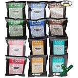 Pork Clouds, All Flavors Sampler, 12 Pack Assortment, Includes Chip Bag Clip
