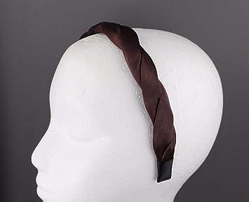 Amazon.com   Dark Brown Satin Twist Headband Braid Hair Grip Teeth Head  Band Hair Accessory Girls Headbands For Women   Beauty f2257390877