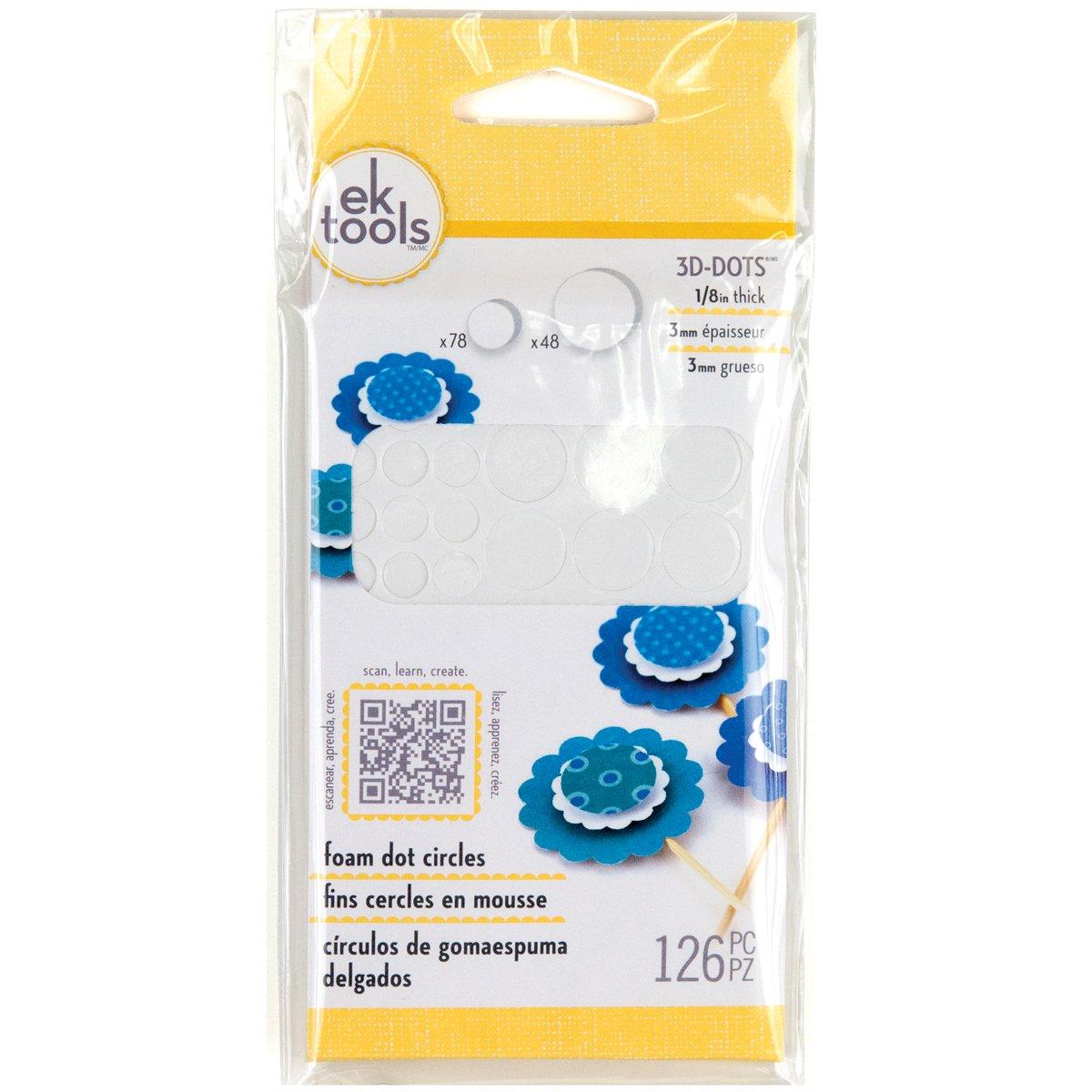 EK Tools Círculos adhesivos Puntos de espuma, 125 pulgadas