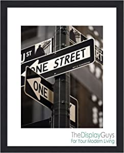 The Display Guys Value Set of 6 Black 11x14 Picture Frames matted to 8x10 Photos, Plexiglass, Wall Hanging