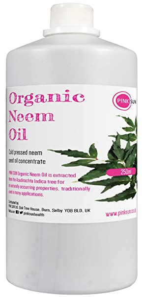 Organic Neem Oil for Skin and Hair 250ml - 100% Pure Natural