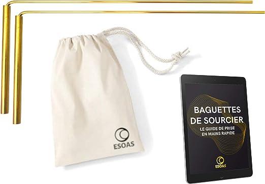 confezione di sopravvivenza professionale Bacchette da sorgente DELUXE /& Pendolo divinatorio di radiestesia TROUVIER marca francese