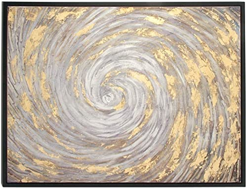 Deco 79 Framed Canvas Art, 36 x 48 , Gray Yellow Black
