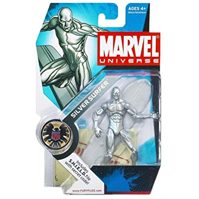 Hasbro Marvel Universe Series 1 Action Figure #003 Silver Surfer 3.75 Inch: Toys & Games