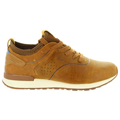 38884bf9416 Amazon.com | Pepe Jeans Boston Smart, Sneakers for Men 43 Brown | Shoes