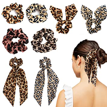 Shiny Cheetah Scrunchie