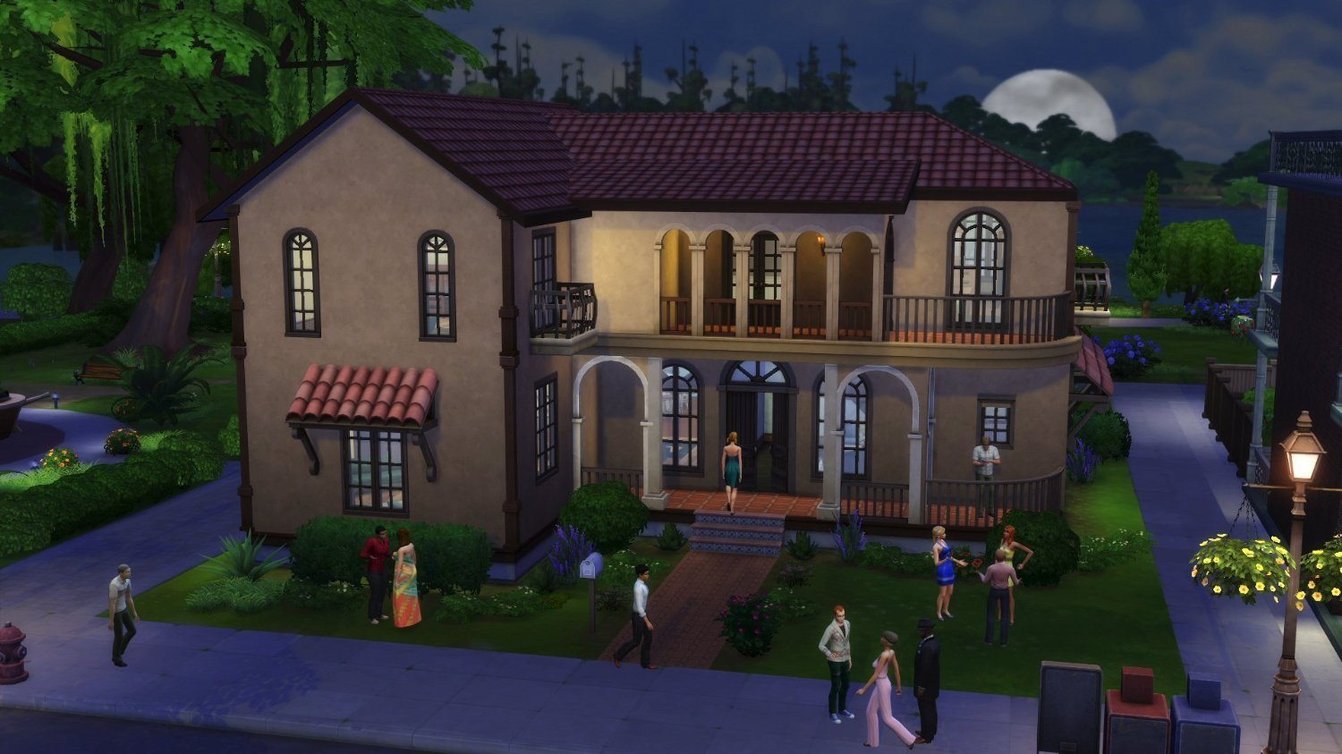 download sims 4 vampire house