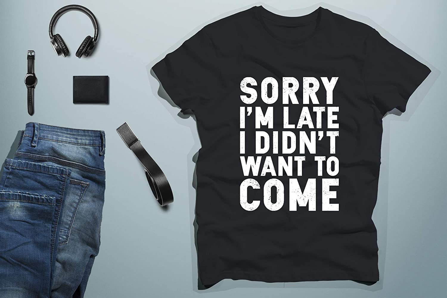 c32ec089 Crazy Bros Tees CBTWear Sorry I'm Late, I Didn't Want to Come - Funny  Sarcastic Graphic Tee - Office Humor Men T-Shirts: Amazon.ca: Clothing &  Accessories