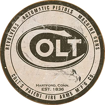 Desperate Enterprises Colt Round Logo Metal Sign