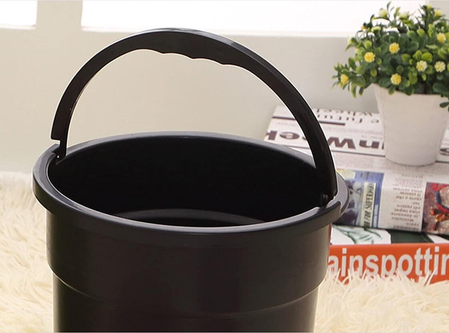 LIAN LIAN LIAN Smart Trash Can Footless Pedals Batería USB Cargador Automático Reel Barrel,12L9.4  17.7in-greenrechargeablemodels 37e1dc