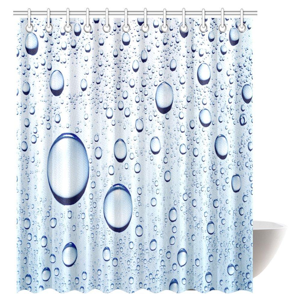 Amazon.com: InterestPrint Water Bubbles Shower Curtain, Water Drops ...