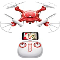 DoDoeleph Syma X5UW Wifi FPV 720P HD Camera Quadcopter Drone (Red)
