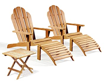 two teak adirondack chairs with adirondacks footrest and picnic table jati brand quality u0026
