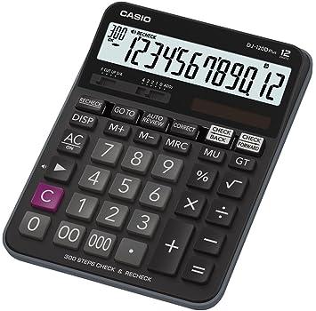 Casio DJ-120DPLUS-W-EP Plus Desktop Calculator with Check