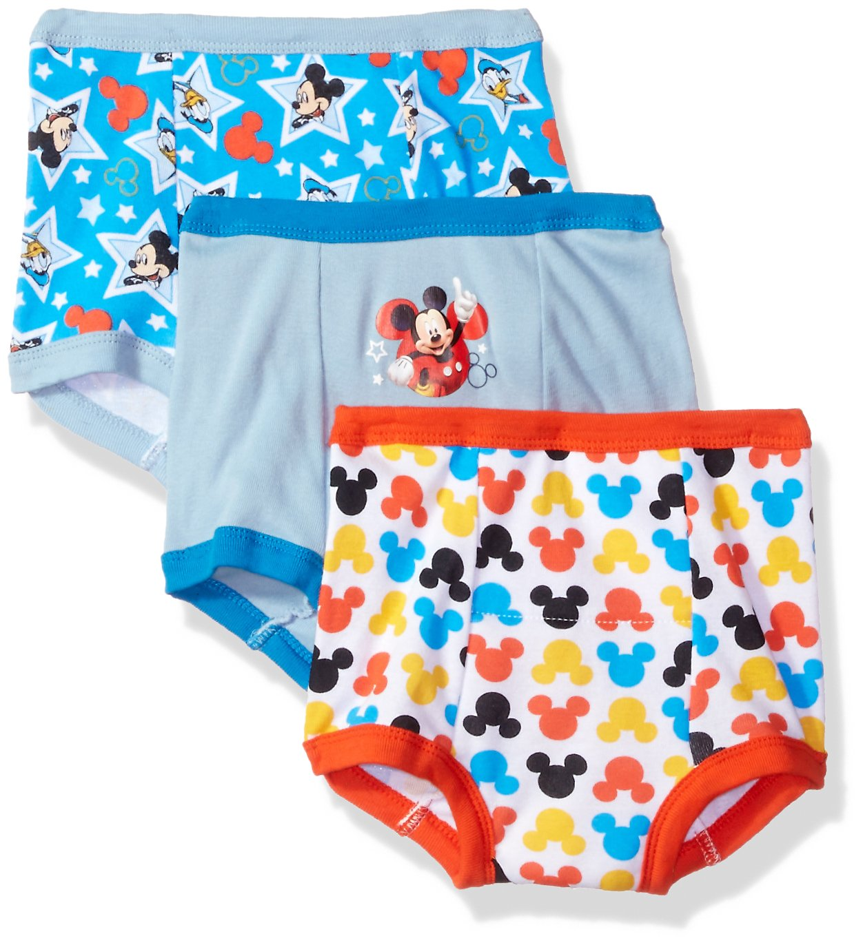 Disney Toddler Boys' Mickey Mouse 3pk Training Pant, Mickey Multi, 4T
