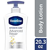 Vaseline Intensive Care Body Lotion, Advanced Repair Unscented, 20.3 oz