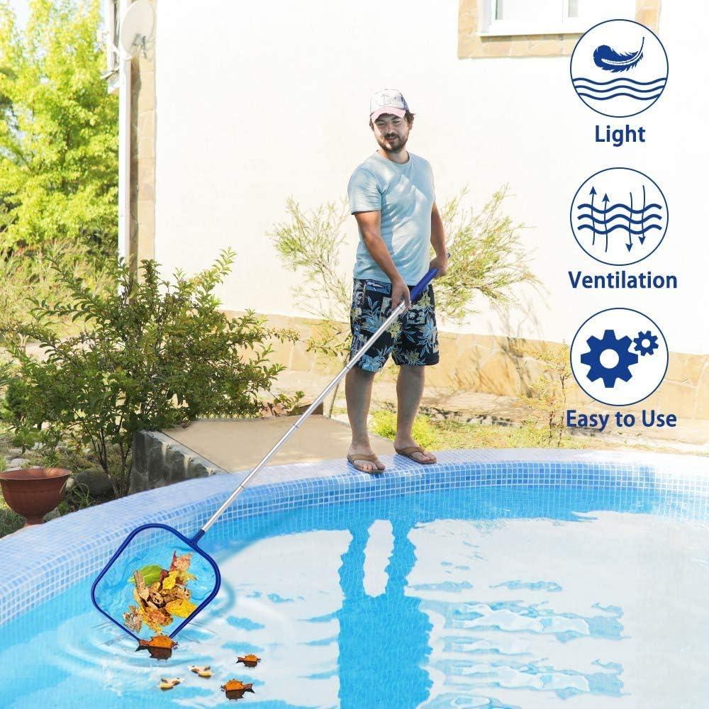 Hot Tub and Spa Garden Pond for Cleaning Swimming Pool Swimming Pool Pond Flat Net,Pool Skimmer Fine Mesh Pool,Net Deep Bag,Swimming Pool Leaf Mesh Net