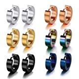 Amazon Price History for:Pusheng Stainless Steel Small Hoop Earrings Set for Men Women Huggie Earrings