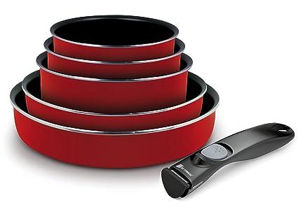 Backen 189953 – Set de ollas y sartenes – 6 Piezas Rojo – inducción