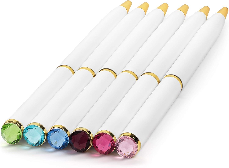 Fancy Pens for Women   Set of 12 Colorful Gem-Top Pens   Perfect Gift for Teachers, Girls, Women