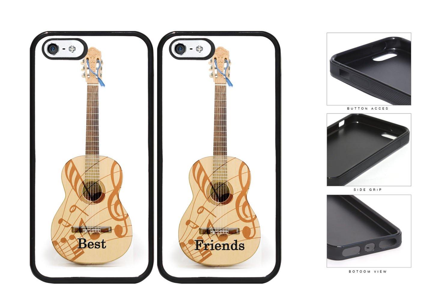 Mejores amigos guitarra y notas musicales juego de goma de ...
