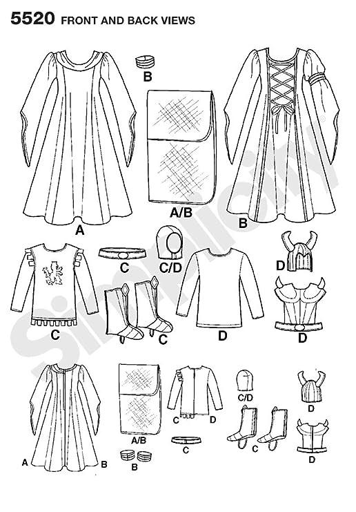 Simplicity 5520 - Patrones de costura para disfraces de niños ...