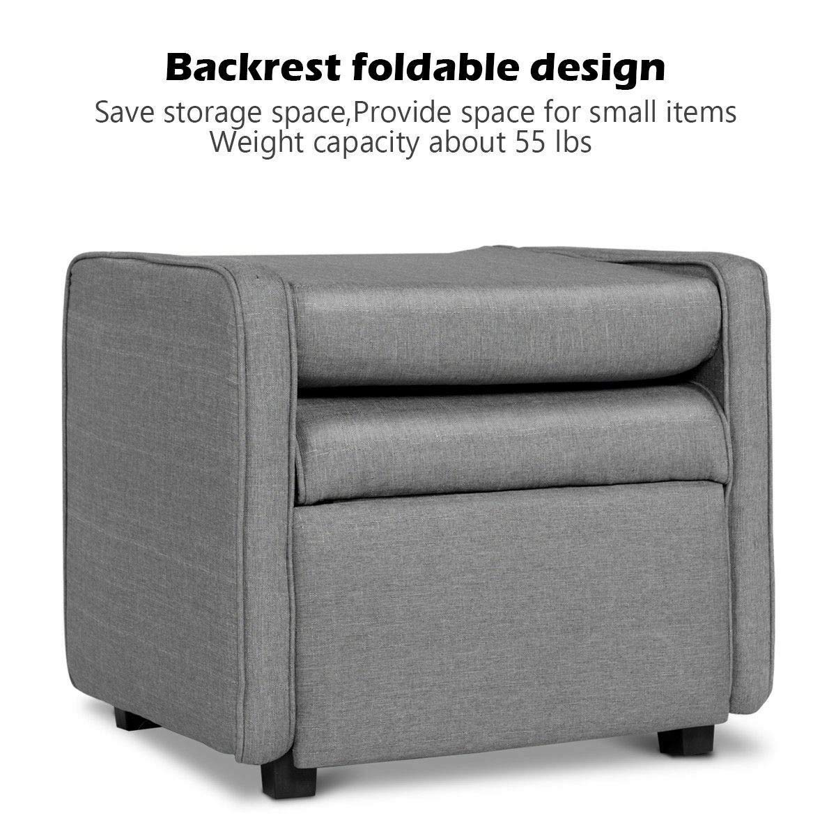 Amazon.com: Adumly - Sillón de sofá individual, plegable ...