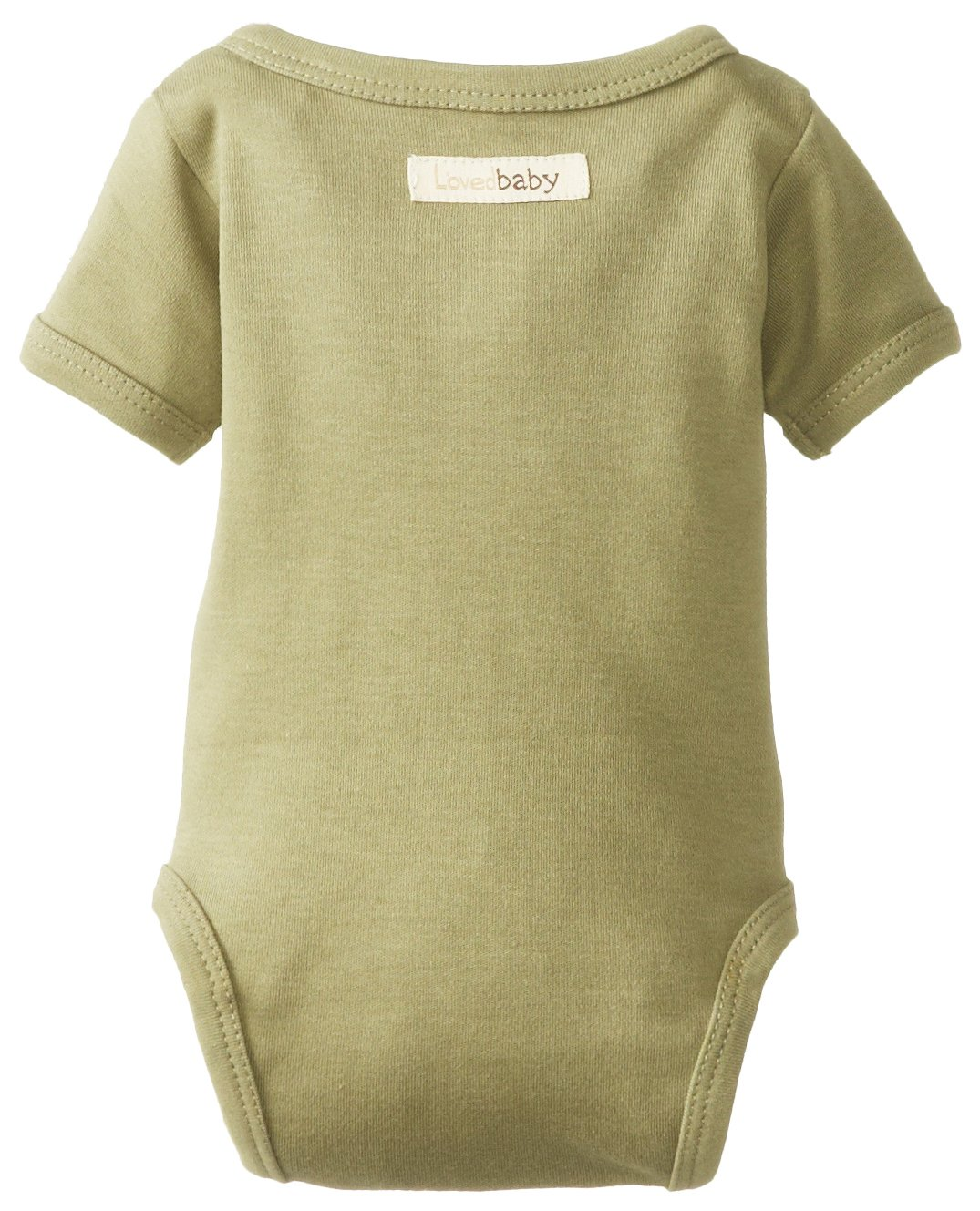 L'ovedbaby Unisex-Baby Organic Cotton Kimono Short Sleeve  Bodysuit, Sage, 0/3 Months by L'ovedbaby (Image #2)